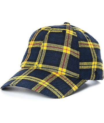 Ninth Hall Standard gorra strapback en amarillo tartán