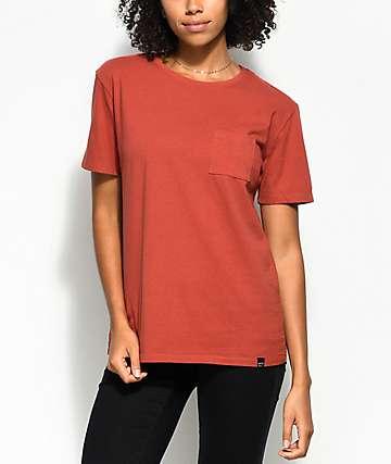 Ninth Hall Steph Dark Orange Pocket T-Shirt