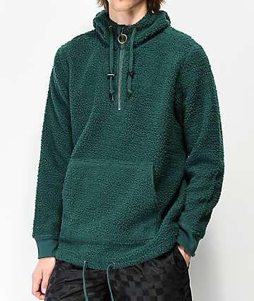 Ninth Hall Summit Green Sherpa Half-Zip Sweatshirt