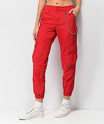 Ninth Hall Talia Red Parachute Pants
