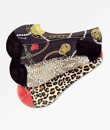 Ninth Hall Tama paquete de 3 calcetines invisibles