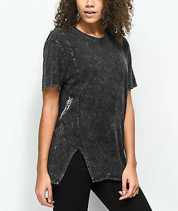 Ninth Hall Tough Love Fawn Caviar Black Crystal Wash T-Shirt