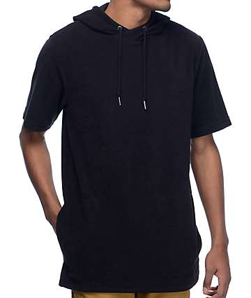 Ninth Hall Track Black Hooded T-Shirt