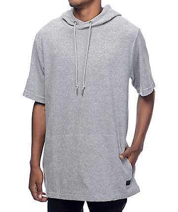 Ninth Hall Track Light Grey Hooded T-Shirt