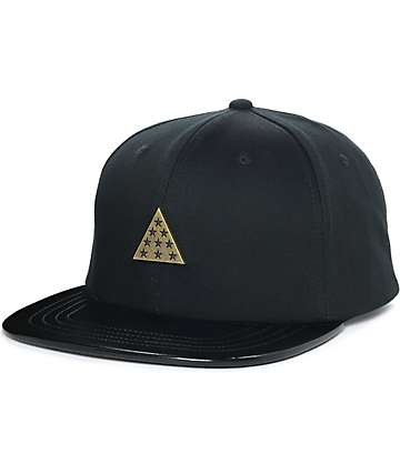 Ninth Hall Trio Black & Gold Snapback Hat
