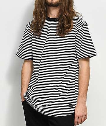 Ninth Hall Tuko camiseta a rayas en negro y blanco