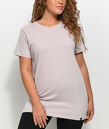 Ninth Hall Tully Slit Oversized Light Mauve T-Shirt