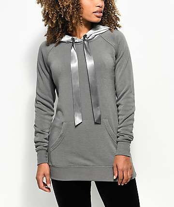Ninth Hall Wiley Velvet Grey Hoodie