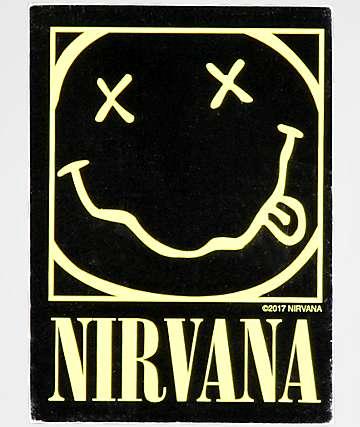 Nirvana Smiley Sticker