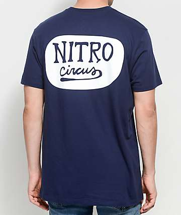 Nitro Circus Script Navy T-Shirt