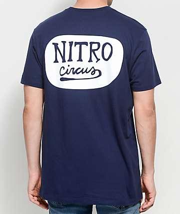Nitro Circus Script camiseta en azul marino