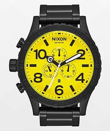 Nixon 51-30 Chrono Black & Yellow Analog Watch