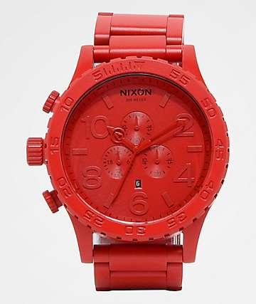 Nixon 51-30 reloj cronógrafo rojo