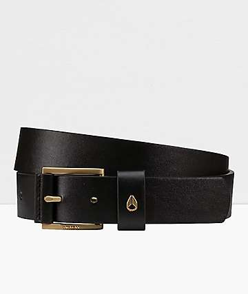 Nixon Americana Black & Gold Vegan Belt