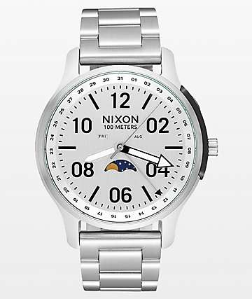 Nixon Ascender Silver Analog Watch