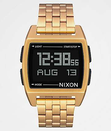 Nixon Base All reloj digital en todo oro