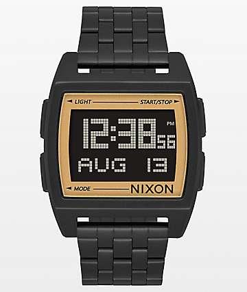 Nixon Base Black & Gold Digital Watch