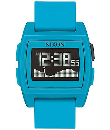 Nixon Base Tide Blue Resin Digital Watch