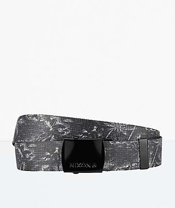 Nixon Basis Paradise & Black Woven Belt