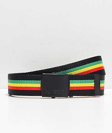 Nixon Basis Rasta Web Belt