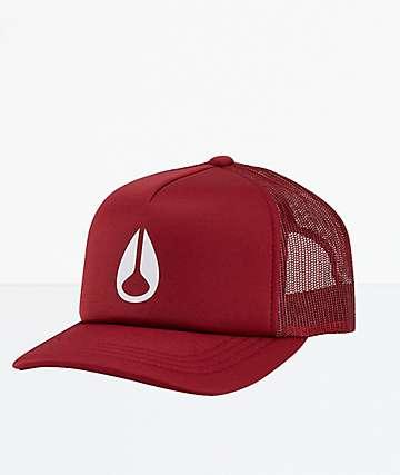 Nixon Byron Sangria Snapback Hat