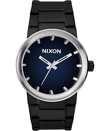 Nixon Cannon Ombre Black & Blue Watch