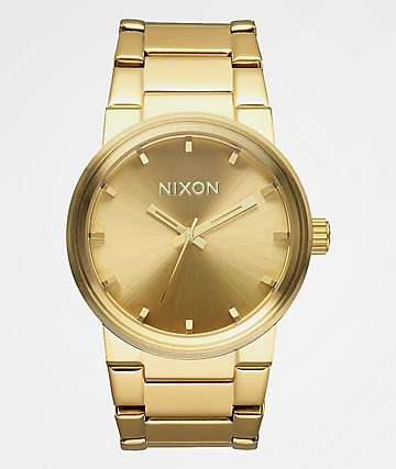 Nixon Cannon reloj analógico en color oro