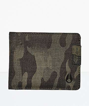 Nixon Cape Multicam & Black Bi-Fold Wallet