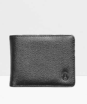 Nixon Cape Vegan Leather Black Bifold Wallet