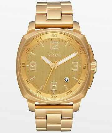 Nixon Charger reloj analógico de oro