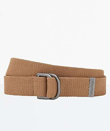 Nixon Claybo Khaki D-Ring Web Belt