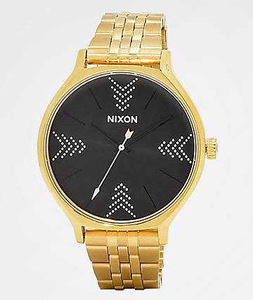 Nixon Clique Gypsy Gold & Black Watch