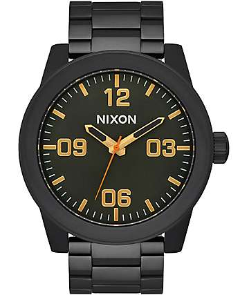 Nixon Corporal All Black Surplus Analog Watch