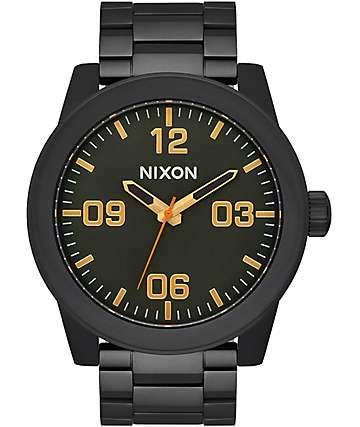 Nixon Corporal Surplus reloj analógico en negro