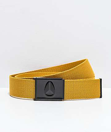 Nixon Enamel Wings Wheat Web Belt