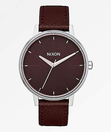 Nixon Kensington Leather Port Analog Watch
