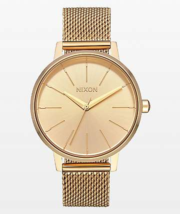 Nixon Kensington Milanese All Gold Analog Watch