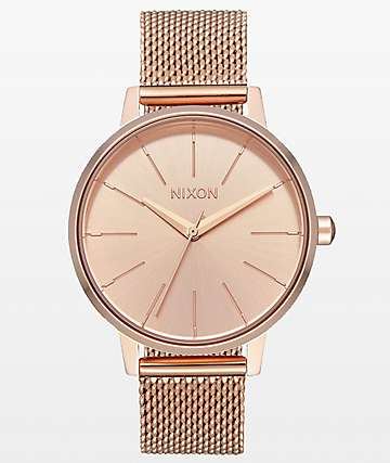 Nixon Kensington Milanese reloj analógico de oro rosa