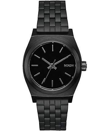 Nixon Medium Time Teller All Black Watch