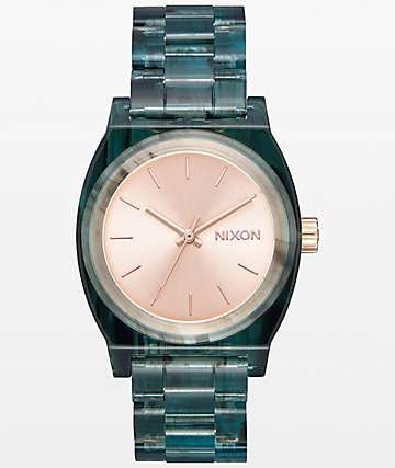 Nixon Medium Time Teller Aqua Acetate Analog Watch
