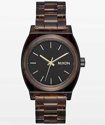 Nixon Medium Time Teller Brown Acetate Analog Watch
