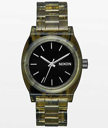 Nixon Medium Time Teller Olive Acetate Analog Watch