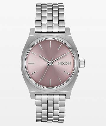Nixon Medium Time Teller Silver & Pale Lavender Analog Watch