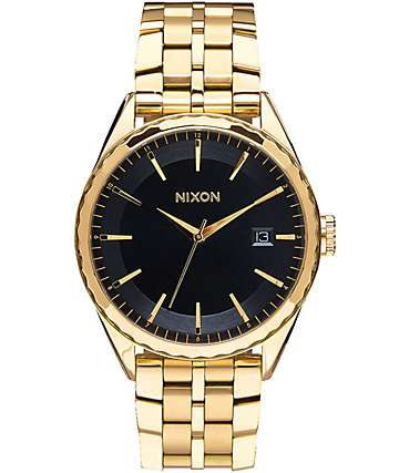 Nixon Minx Black & Gold Watch