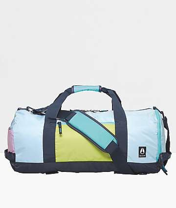 Nixon Pipes 80s Colorblock Duffle Bag