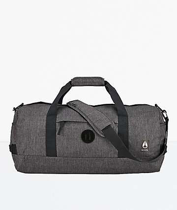 Nixon Pipes II Heather Charcoal & Black Duffle Bag