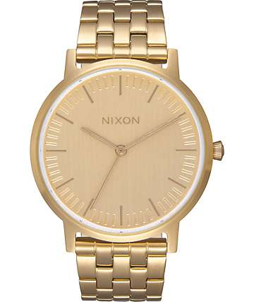 Nixon Porter 35 All Gold Watch