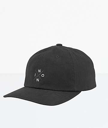 Nixon Prep Black Strapback Hat
