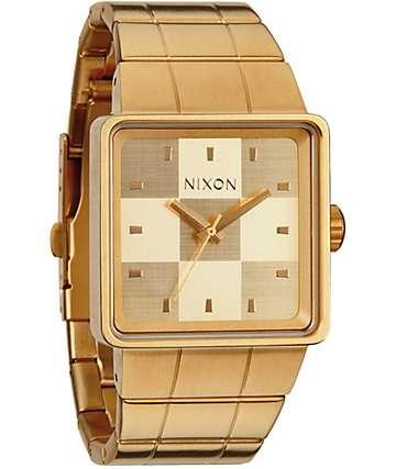 Nixon Quatro All Gold Analog Watch