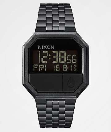 Nixon Re-Run All Black Digital Watch
